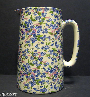Heron Cross Pottery Forget-Me-Knot Chintz English 2 Pint Milk Jug