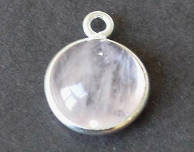 Solid 925 Sterling Silver - Natural Morganite Round 11 Mm 1.50 Grams #2827