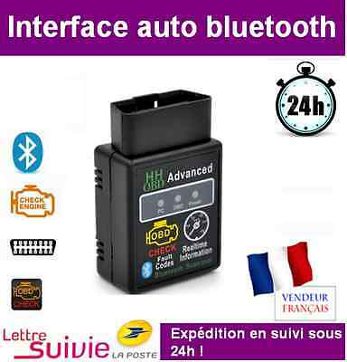 Interface Bluetooth Hh Compatible Elm 327 Obd2 Diagnostique Scanner Multimarque
