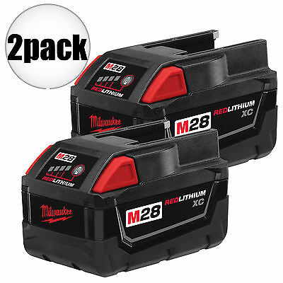 2pk M28 Lithium-Ion Battery Pack Milwaukee 48-11-2830 New