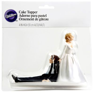 """Wilton Now I Have You Cake Topper Funny Humorous Wedding Cake Top 4 1/4"""" Height"""