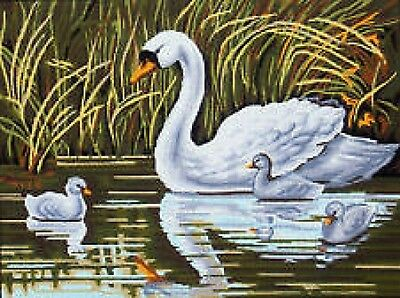 Swan with Signets Tapestry Canvas (Gobelin L) 30cm x 40cm