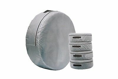 4 x Spare Wheel Storage Carry Tyre Bag Protection Cover Storage Space Saver Grey
