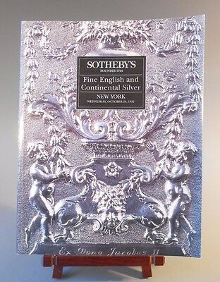 Sotheby's Fine English & Continental Silver October 28 1992 Auction Catalog