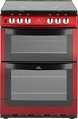 New World 601DFDOL 60cm Free Standing Double Dual Fuel Cooker - Red -From Argos