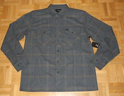 "Brixton Langarm Flanell Hemd ""Archie"", green/grey, Gr. M"