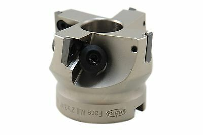 """2"""" 90° Indexable Face Mill w/ Carbide Shims Use TPG32 Inserts New $215.05 Off"""