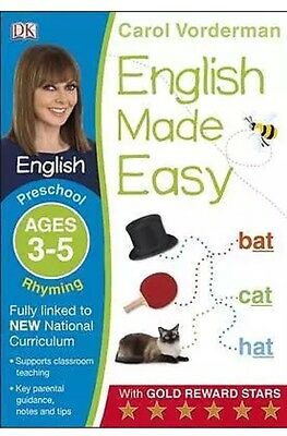English Made Easy Rhyming Preschool Ages 3-5 Carol Vorderman Paperback NEW Book