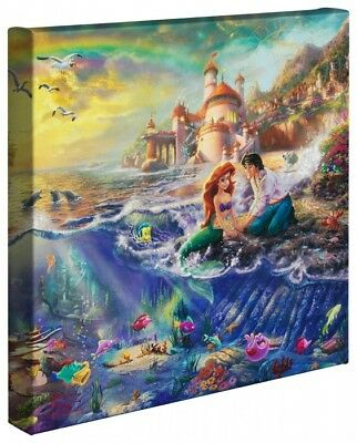 "Thomas Kinkade Disney 14"" x 14"" Wrapped Canvas (4 Disney Wraps)"