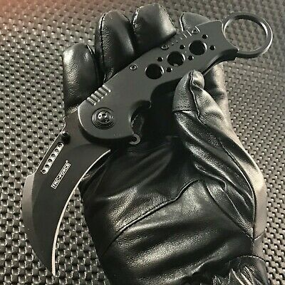 Black Karambit Claw Spring Assisted Tactical Combat Pocket Knife Open Tac Force