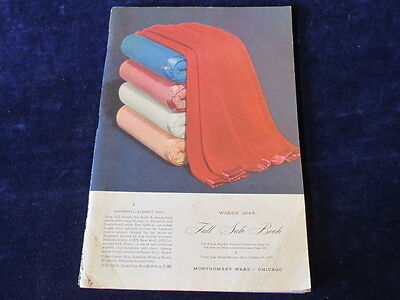 Vintage 1948 Montgomery Ward FALL SALE Catalog Book Fashions Mid Century  A61b