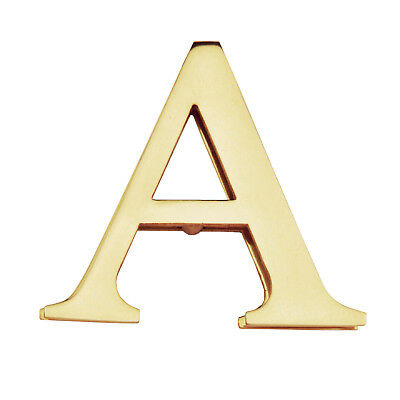 NEW! Solid Brass Monogram 3D Door Knocker |  Double Initial Polished Letter A