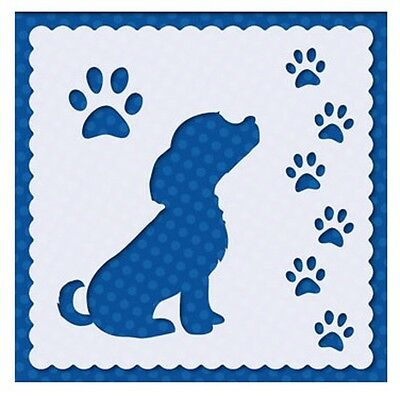 Flexible Stencil *PUPPY PAWS* Embossing, Pricking, Masking, 9.5cm x 9.5cm - Dog