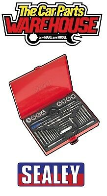 Sealey FULL Tap & Die Set 37pc Split Dies - Metric inc drill bits , gauge AK3037