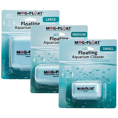 Genuine MagFloat Aquarium Algae Magnet Small Medium Fish Tank Algae Cleaner