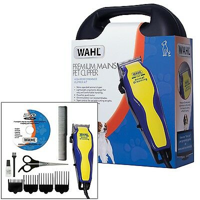 Wahl Pet Dog Clippers Grooming Kit Animal Hair Clipper Trimmer Plus Case + Dvd