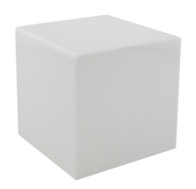 "White 8"" Jewelry Cube Riser Display Box / 5 Sided (Acrylic)"