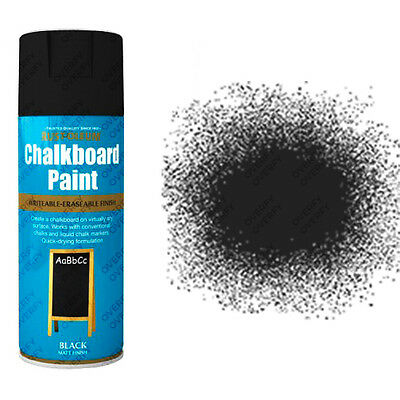 Rust-Oleum Blackboard Chalkboard Aerosol Spray Paint Black Matt Black Board
