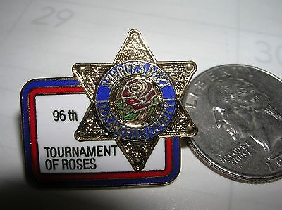 "Sheriff Dept LA County 1"" Mini STAR Badge PIN Tie Tac 96th Tournament of Roses"