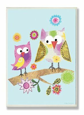 The Kids Room by Stupell Whimsy Multicolor Owls on a Branch Rectangle Wall