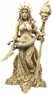 NEW Greek Goddess Hecate With Dogs and Staff Wicca Witch Triple Goddess Figurine
