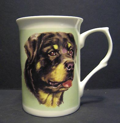 Rottweiler Dog Fine Bone China Mug Cup Beaker