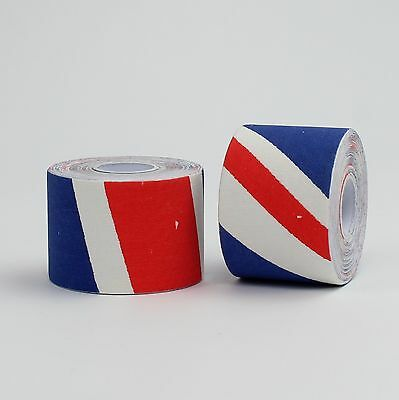 2 Kinetic Kinesiology Tape Sports Shoulder Neck Back Pain 5cm x 5m UNION JACK