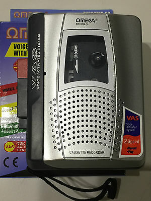 Omega 7920 Reporter- 20 Voice Activated Cassette Recorder Twin Speed
