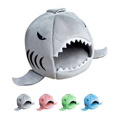 Cute Shark Mouth Pet Dog Cat House Removable & Washable Dog Bed Kennel