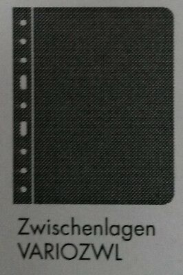 LIGHTHOUSE VARIO BLACK ZWL INTERLEAVE PAGES PACK OF 5 - for banknote/coin albums