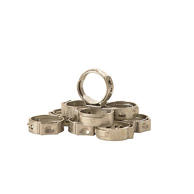 10 PCS -1/2-inch PEX Stainless Steel Clamp Cinch Rings Crimp Pinch Fitting F2098