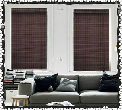 NEW 180 x 210 Bamboo Roman Blind Blinds Blockout Ready Made Mahogany Window