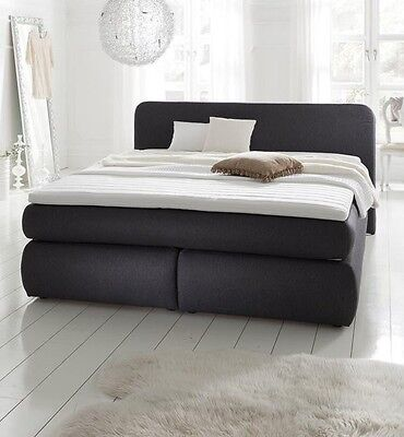 xxl boxspringbett mit bettkasten boxspring bett schwarz 180x200 eur picclick de. Black Bedroom Furniture Sets. Home Design Ideas