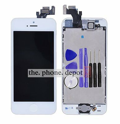 For iPhone 5 LCD Display Touch Screen Digitizer Assembly HomeButton Camera White