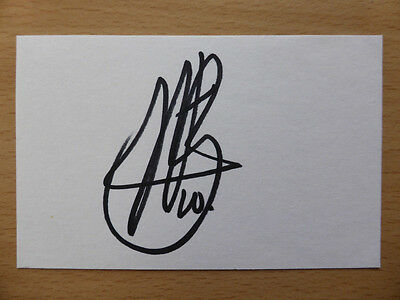 Hand Signed Football Index Cards *****U & V***** Page 1
