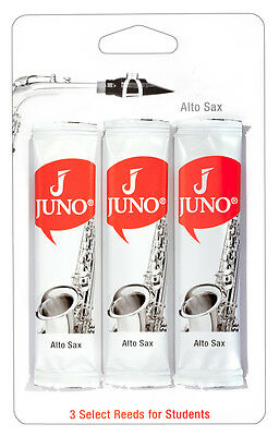 Juno Alto Saxophone Reeds by Vandoren Sax 3 Pack 1.5 2 2.5 3 Free Delivery
