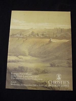 Christie's Auction Catalogue 1989 Foreign Post Offices In The Holy Land 'sacher'