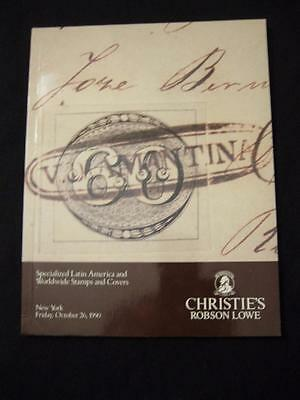 Christie's Lowe Auction Catalogue 1990 Specialised Latin America And World Wide