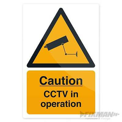 Safety warning  security sign CCTV In Operation Sign 200 x 300mm Self-Adhesive