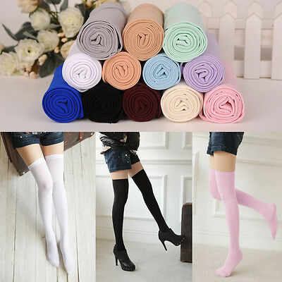 Women Girls Sexy Thigh High Socks Over Knee Velvet Stockings Chic Cute Hosiery