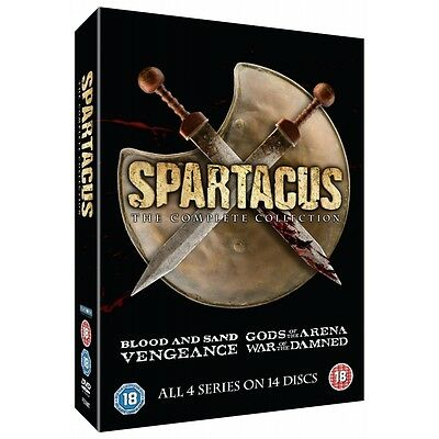 Spartacus: The Complete Collection Series 1-4 DVD (Slim Edition) - Brand new!
