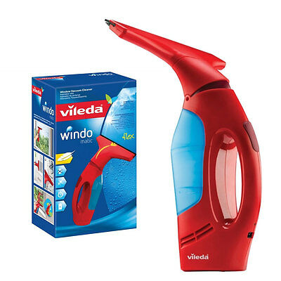 Vileda Windomatic Cordless Window Vacuum Cleaner Mirror ...