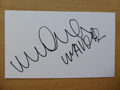 Hand Signed Football Index Cards *****W***** Page 1