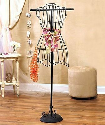 Vintage Style Wire Dress Form Mannequin Boutique Scarf Holder Store Display