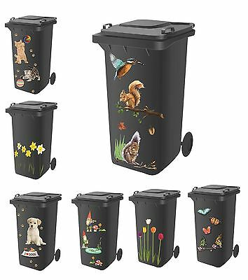 Standard Wheelie Bin Self Adhesive Stickers For Dustbin Caravan Household Items