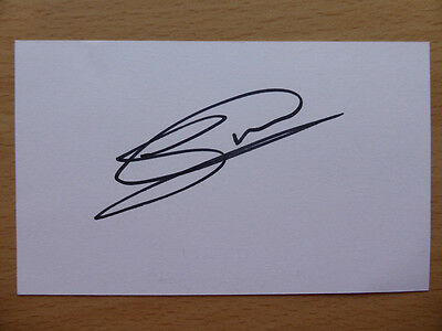 Hand Signed Football Index Cards *****W***** Page 2