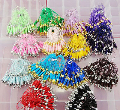 Lot multicolor DIY Jewelry accessories Cell Phone  Lariat Lanyard Lobster Clasp
