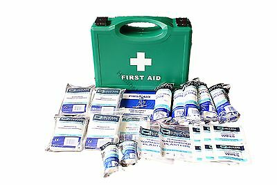 HSE 1-10  First Aid Kit - Cuts, Wounds, Burns,  Accidents at Work Also Refills