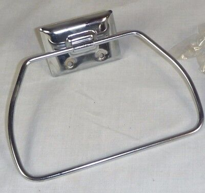 NOS Vintage Chrome Stirrup Style Towel Ring