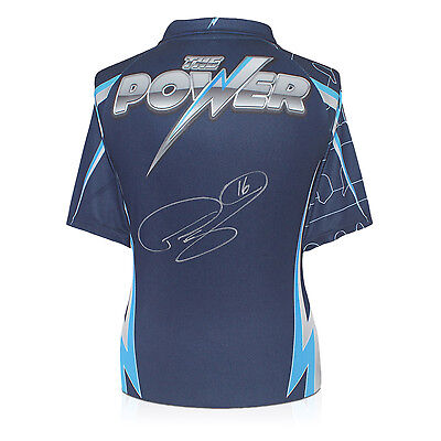 Phil The Power Taylor Signed Darts Shirt Autographed Sports Memorabilia